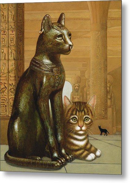Mike The British Museum Kitten Metal Print