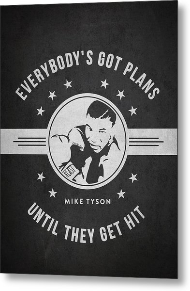 Mike Tyson - Dark Metal Print