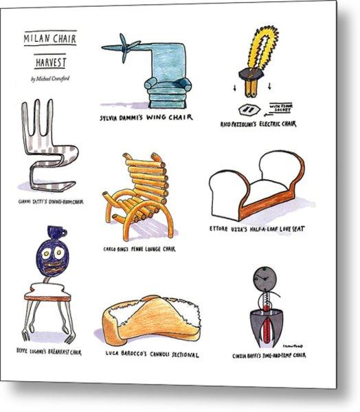 Milan Chair Harvest Metal Print