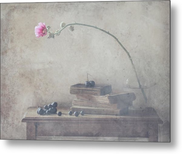 Mild Morning Of October Metal Print by Delphine Devos