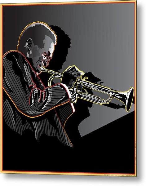 Miles Davis Legendary Jazz Musician Metal Print by Larry Butterworth