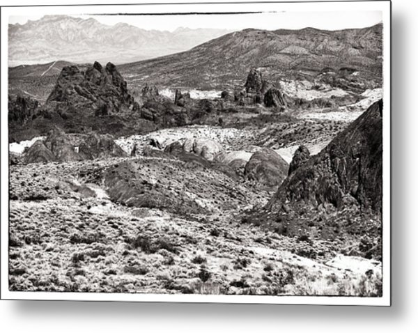 Miles Of Mountains Metal Print by John Rizzuto