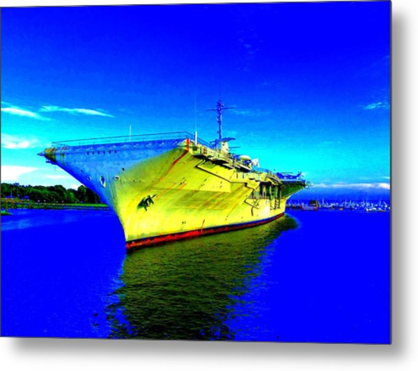 Military Ship 2 Metal Print by Ron Kandt