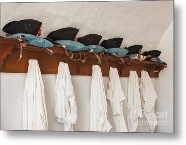 Military Uniforms In El Morro Fort Metal Print