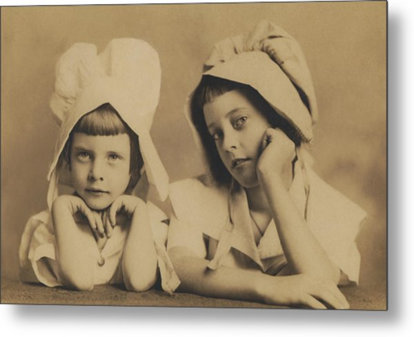 Milkmaid Sisters Metal Print by Paul Ashby Antique Image