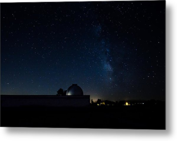 Milky Way And Observatory Metal Print