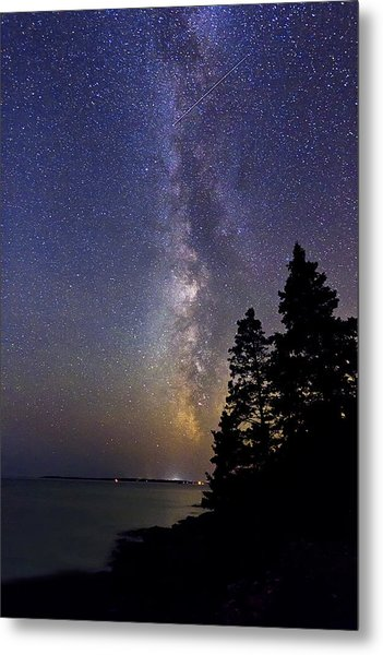 Milky Way At Acadia National Park Metal Print