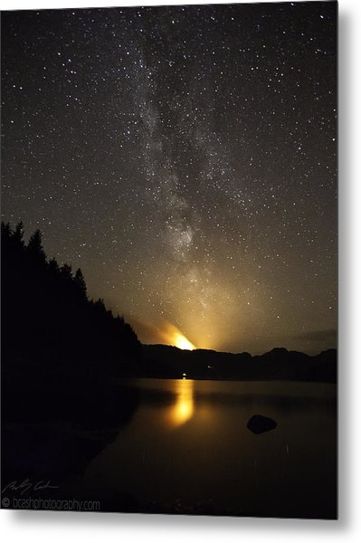 Milky Way At Crafnant 2 Metal Print
