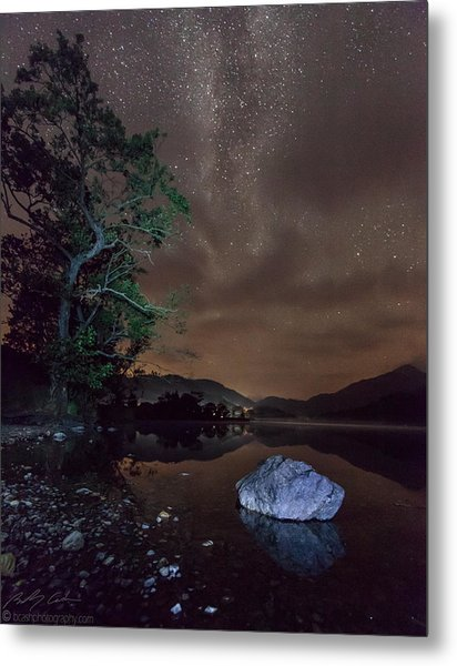 Milky Way At Gwenant Metal Print