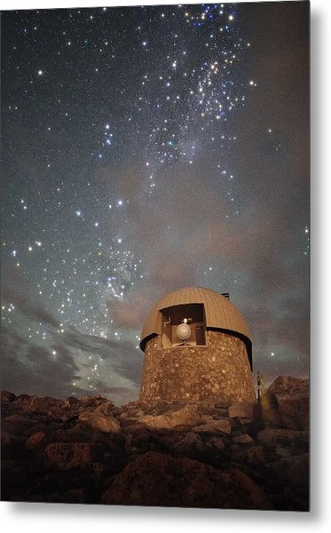 Milky Way Clouds Over The Mount Evans Observatory Metal Print by Mike Berenson