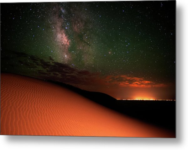 Milky Way Gold From Sand Dunes Colorado Metal Print by Mike Berenson / Colorado Captures