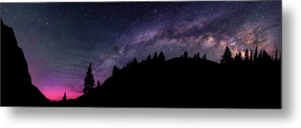 Milky Way In Grizzly Valley Metal Print by Photo By Matt Payne Of Durango, Colorado