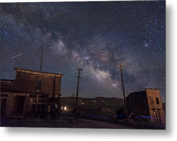 Milky Way Over Bodie Hotels Metal Print