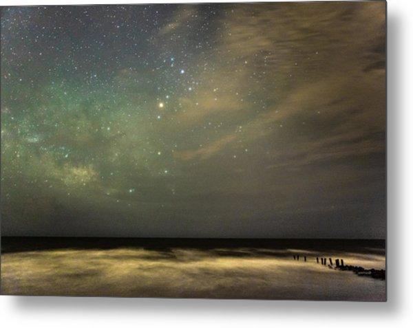 Milky Way Over Folly Beach Metal Print