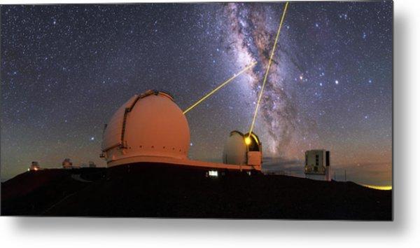 Milky Way Over Mauna Kea Observatories Metal Print