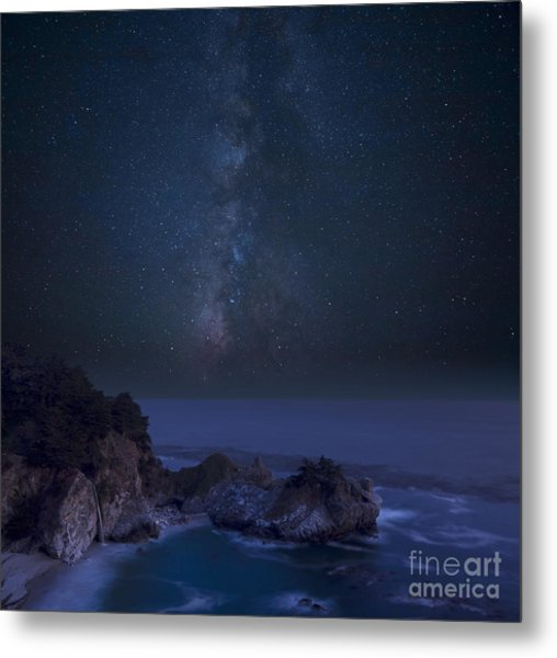 Milky Way Over Mcway Falls Metal Print