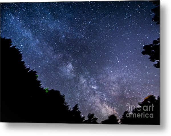 Milky Way Over Silver Springs Campground Metal Print
