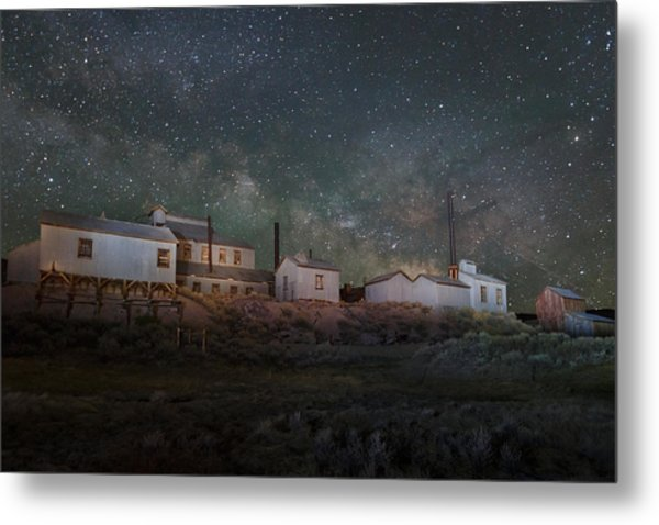 Milky Way Over Standard Mill Metal Print