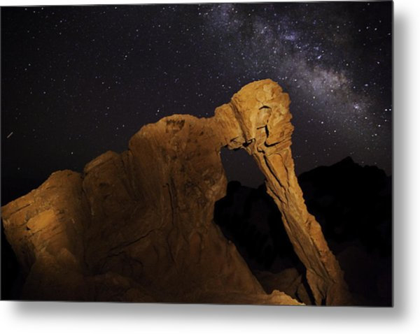 Milky Way Over The Elephant 3 Metal Print