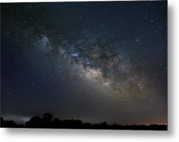 Metal Print featuring the photograph Milky Way Above The Trees by Todd Aaron