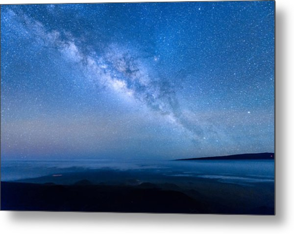 Milky Way Suspended Above Mauna Loa 1 Metal Print