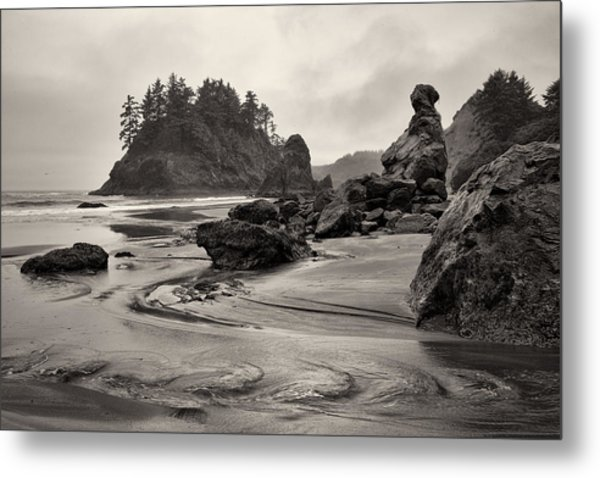 Mill Creek And Pewetole Island At Trinidad State Beach Metal Print