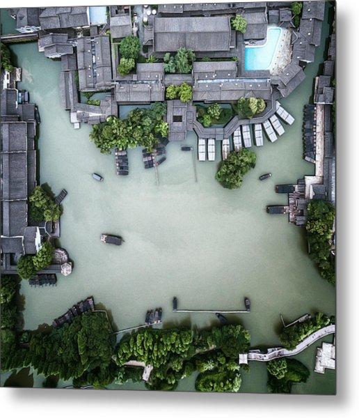 Millennium Ancient Town Metal Print by Zhou Chengzhou