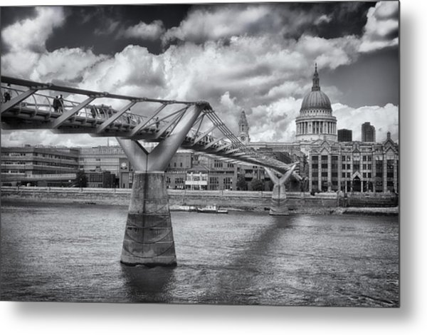 Millennium Bridge - St Pauls Cathedral Metal Print