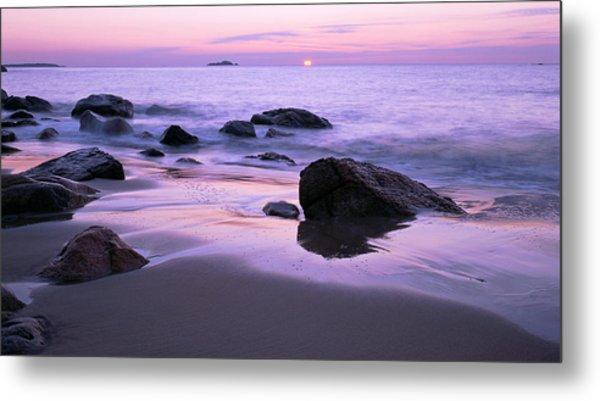 Millennium Sunrise Singing Beach Metal Print