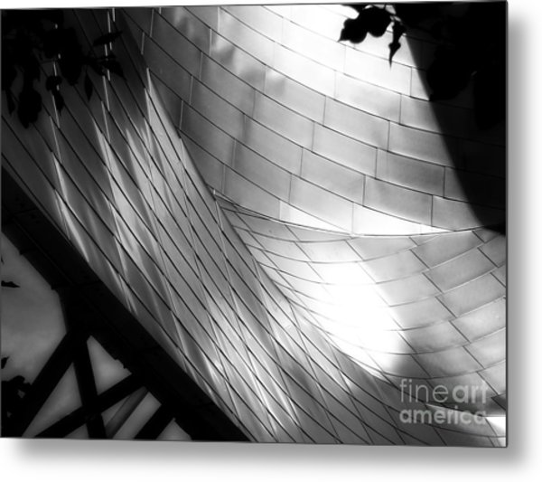 Millinuem Park Band Shell Metal Print