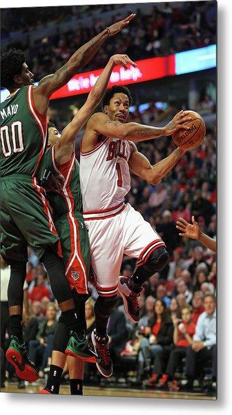 Milwaukee Bucks V Chicago Bulls - Game Metal Print by Jonathan Daniel