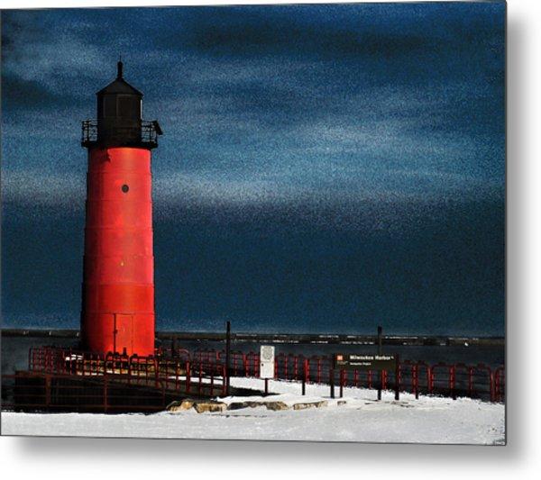 Milwaukee Pierhead Lighthouse Metal Print by David Blank