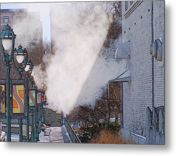 Milwaukee River Walk 1 - Winter 2013 Metal Print