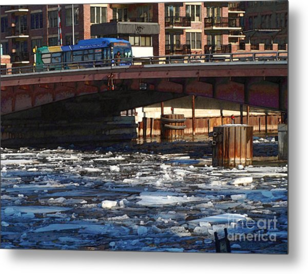 Milwaukee River - Winter 2014 Metal Print by David Blank