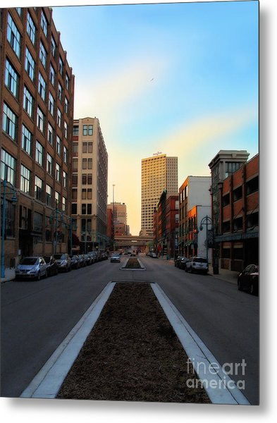 Milwaukee Street - Milwaukee Wi Metal Print by David Blank