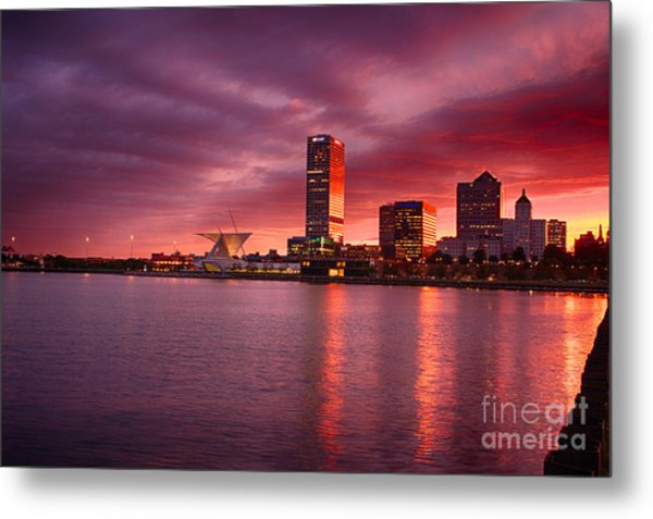 Milwaukee Sunset Metal Print