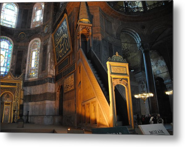 Minbar Of Hagia Sophia Metal Print by Jacqueline M Lewis