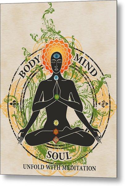 Mind Body And Soul Kundalini Metal Print