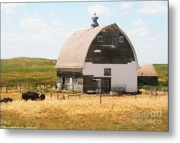 Minden Nebraska Old Farm And Barn Metal Print