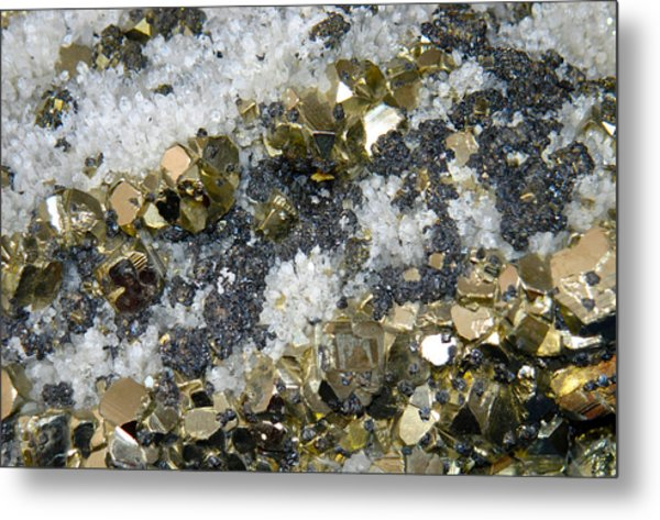 Minerals 4 Metal Print by T C Brown