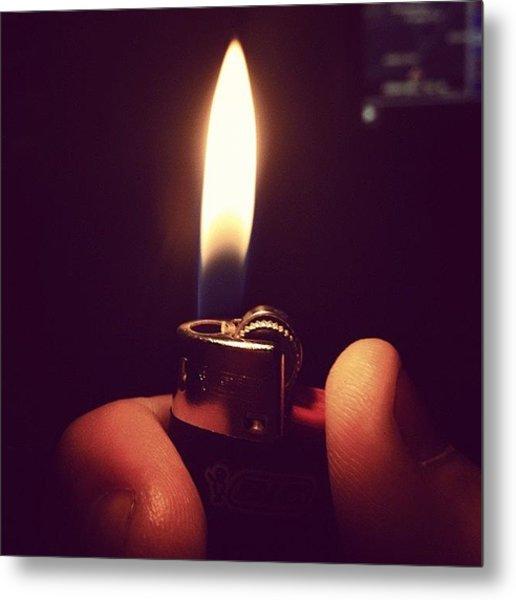 Mini Bic #bic #lighter #flame #fire Metal Print
