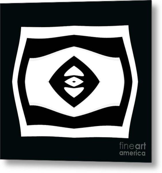 Minimalism Black White Geometric Abstract Art No.284. Metal Print by Drinka Mercep