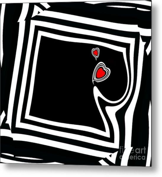Minimalist Black White Red Art No.95. Metal Print by Drinka Mercep