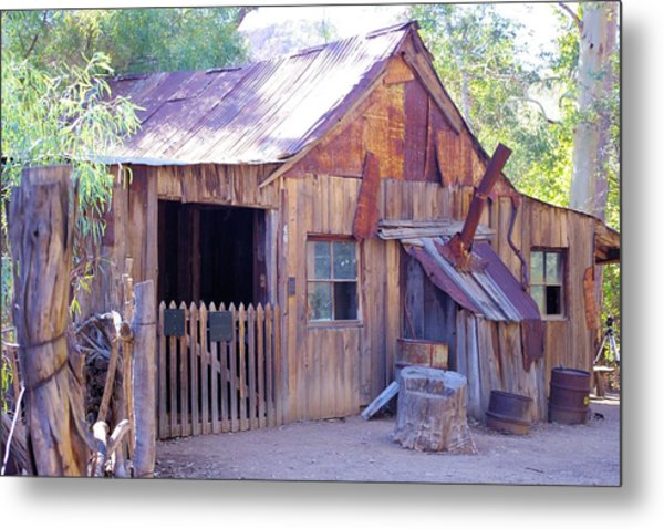 Mining Cabin Metal Print by David Rizzo