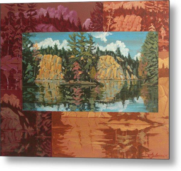 Mink Lake In Fall Metal Print