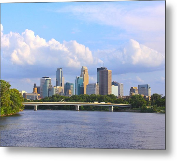 Minneapolis On River3 Metal Print