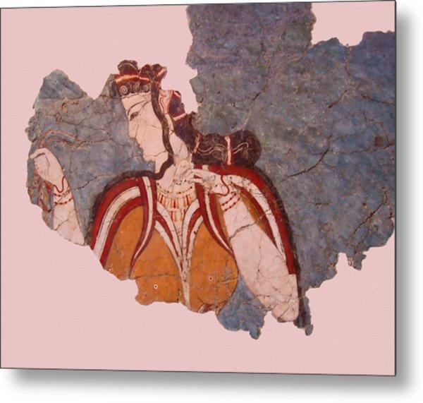 Minoan Wall Painting Metal Print