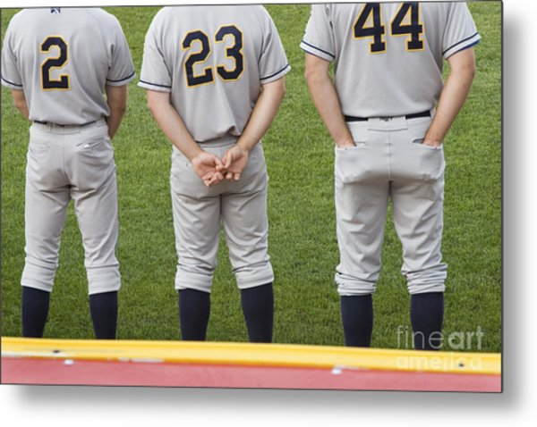 Minor League Baseball Players Metal Print