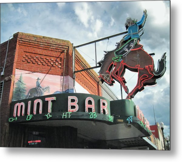 Metal Print featuring the photograph Mint Bar Sheridan Wyoming by Mary Lee Dereske