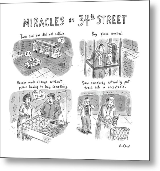 Miracles On 34th Street Metal Print
